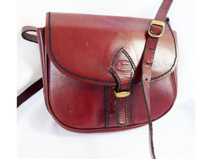 Vintage Italian leather satchel