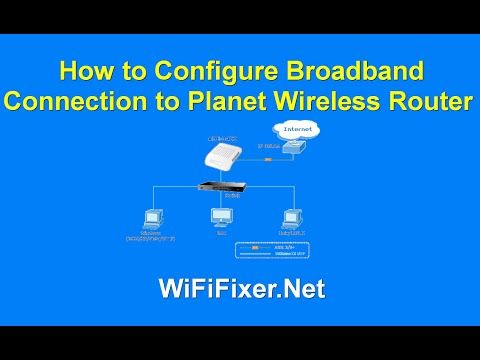 Configure Broadband Connection to Planet Wireless Router