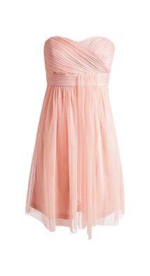Fijne tule jurk met een geplisseerd lijfje