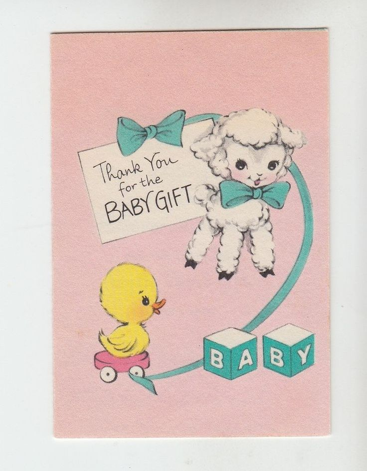 62 best vintage lambs images on pinterest lambs vintage vintage lamb and duckling thank you for the baby gift greeting card negle Image collections