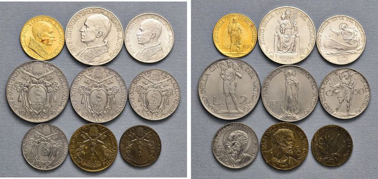 NumisBids: Nomisma Spa Auction 50, Lot 309 : Pio XII (1939-1958) Divisionale 1940 A. II – 100, 10, 5, 2 e una...
