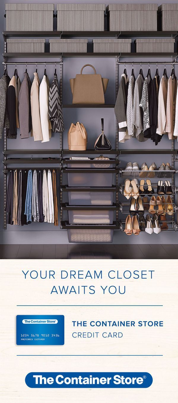 The Container Store Now Offers Special Financing For Purchases Like Your  New Dream Closet! Apply