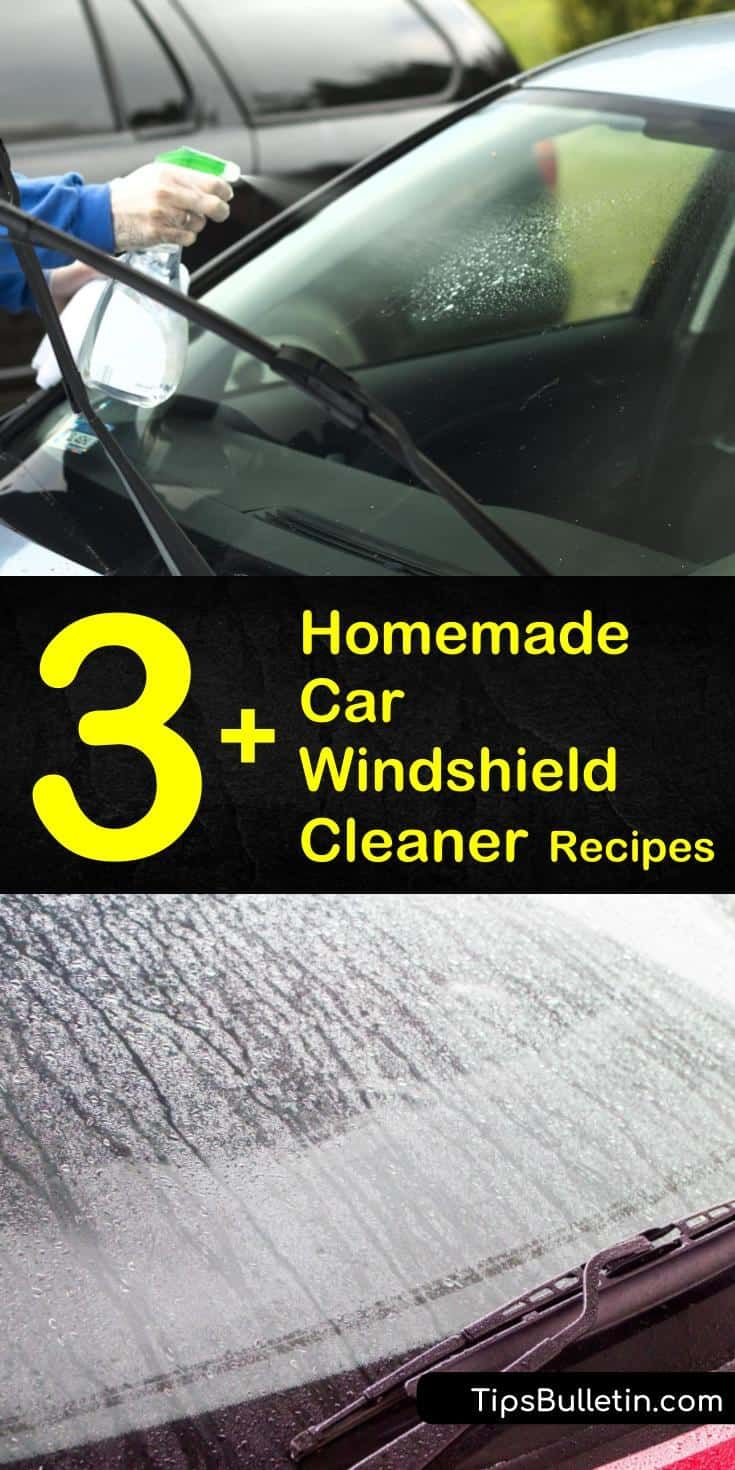 3+ Homemade Car Windshield Cleaner Recipes