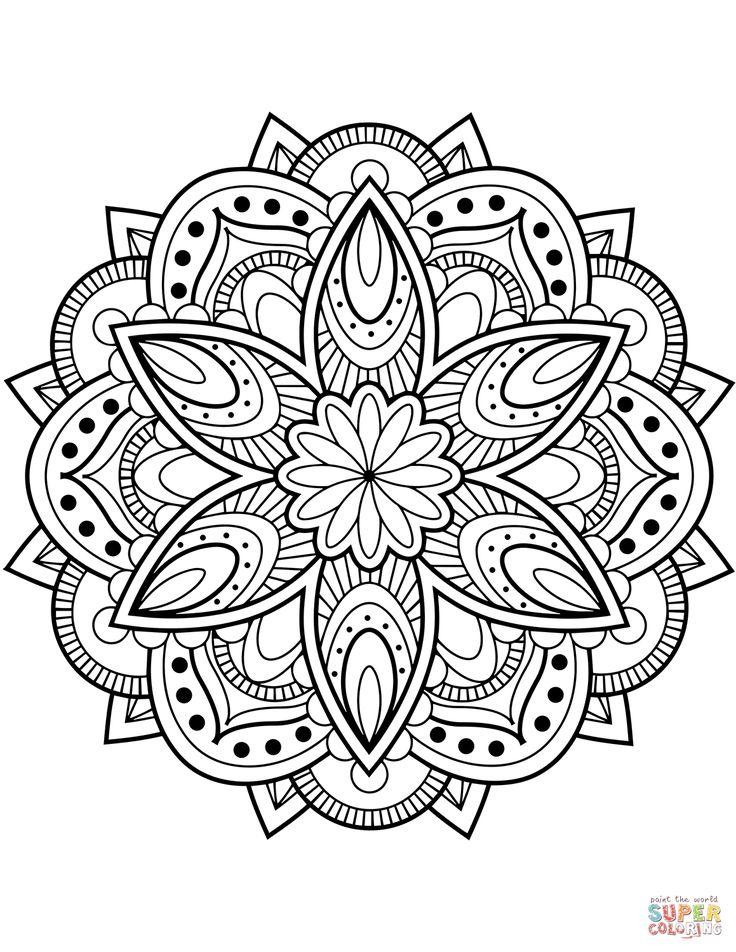 Flower Mandala Coloring Page Free Printable Coloring