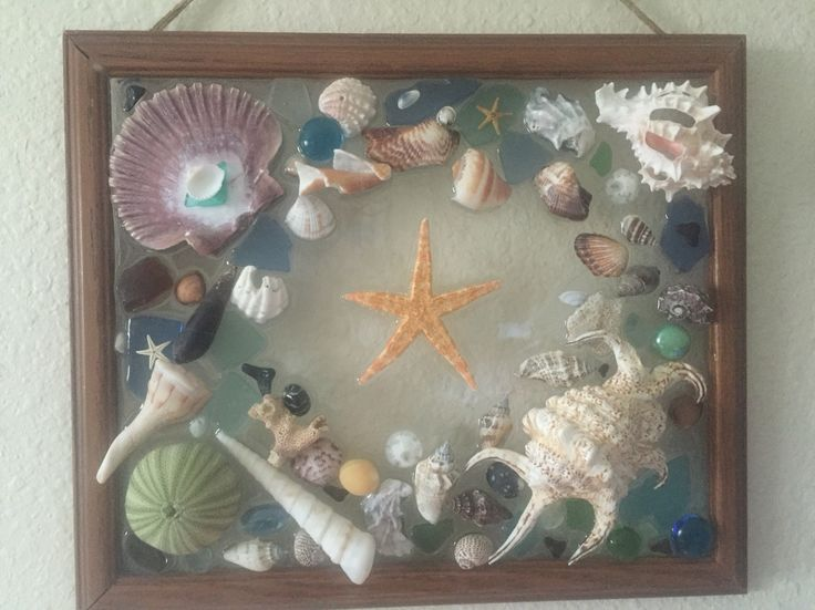 Sea Glass And Shells In Resin Crafting Shell Crafts