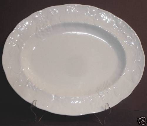 """For informational Purposes:  Wedgwood Strawberry and Vine Oval Serving Platter 14"""". On ebay for $74.95"""