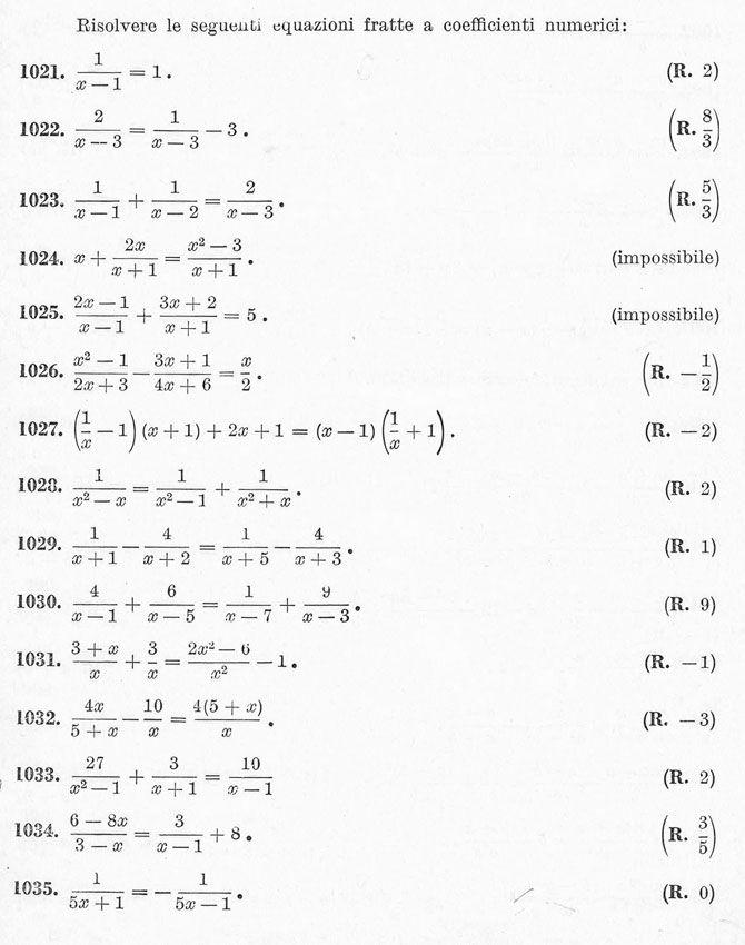 Equazioni di primo grado - esercizi svolti nel 2020 (con..