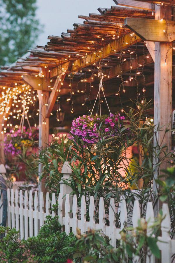 25 inspirerande sätt att arrangera stämningsfull utebelysning - Sköna hem