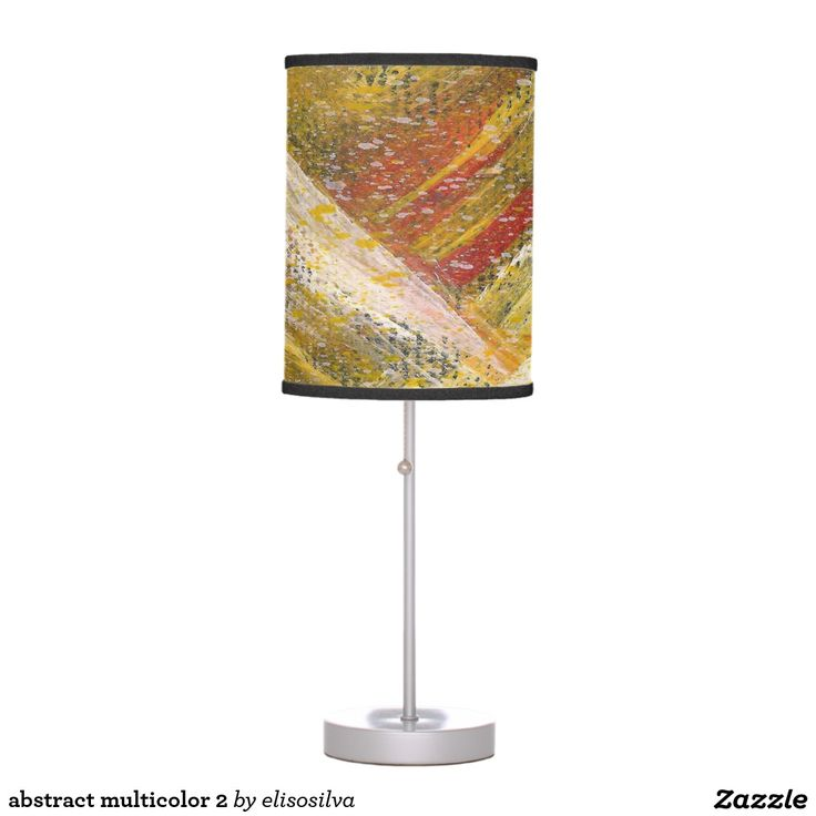 abstract multicolor 2 lámpara de mesilla de noche