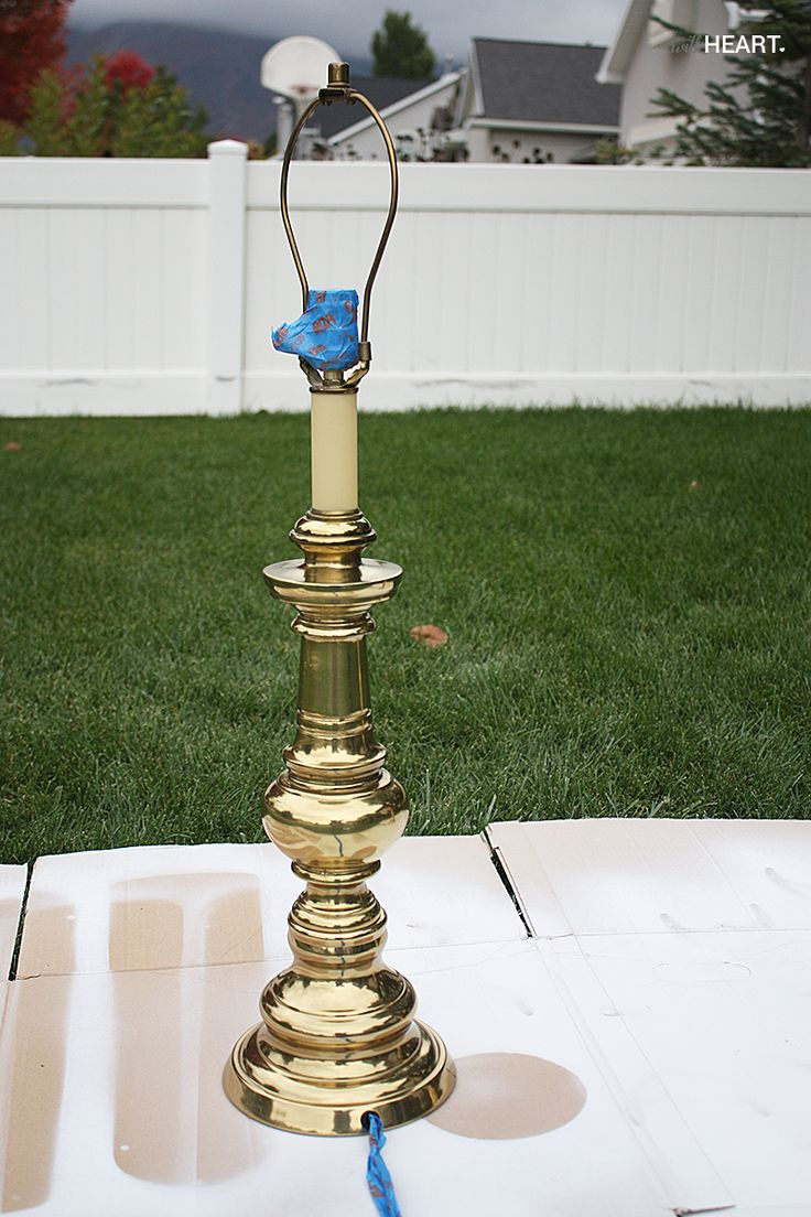 How to spray paint brass lamps.  photo lamp5_zpsb0dcb137.jpg