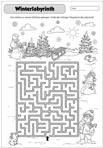winterliches labyrinth dieses jahr habe ich in den adventskalender wieder gutscheine gesteckt