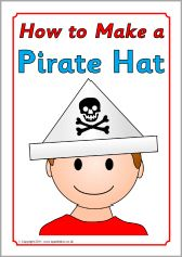 Ned. versie!!! How to make a pirate hat instructions (SB4195) - SparkleBox