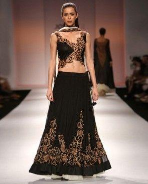 Black lehenga - love the blouse!