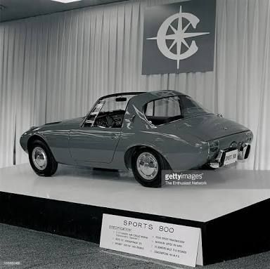 A Toyota Sports 800 on display at the New York Auto