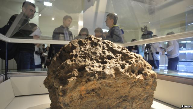 Chelyabinsk Meteor - This enormous chunk of meteorite was lifted from the bottom of Chebarkul Lake.