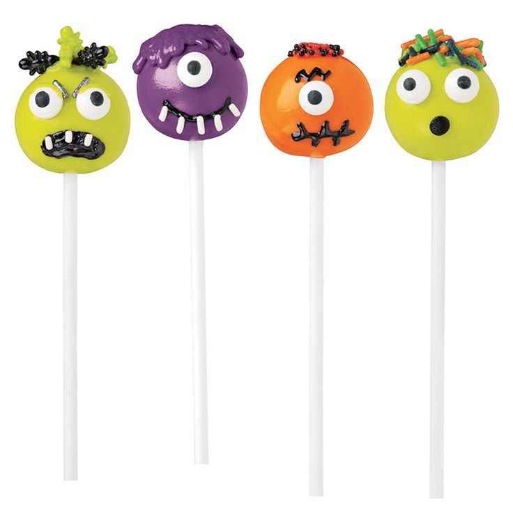 Get the simple instructions for these not-too-scary monster cake pops at Michaels. Source: Michaels
