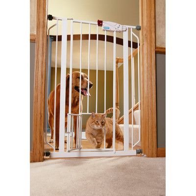 Carlson Pet Extra Tall Pet Gate with Door & Reviews | Wayfair