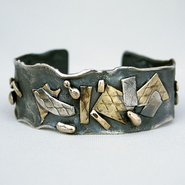 silver cuff with brass   Flickr - Photo Sharing!
