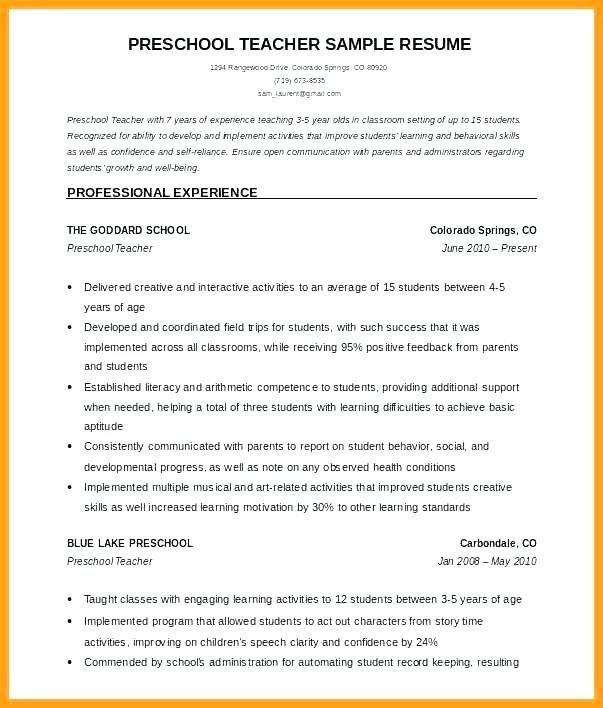 Format For Teacher Resume Sample Resume Format For Teachers Resume