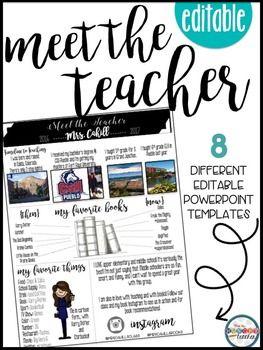 meet the teacher editable infographic templates teaching teacher