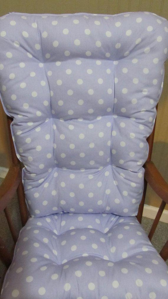 Glider Rocking Chair Cushion Pattern Spider Back Nursery Cushions Set ~ Thenurseries