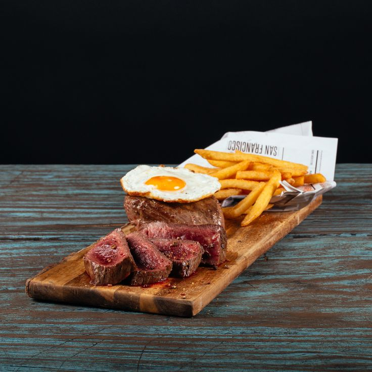Our second special of the month is a beef fillet steak with fried egg, potato wedges, BBQ sauce and fresh salad