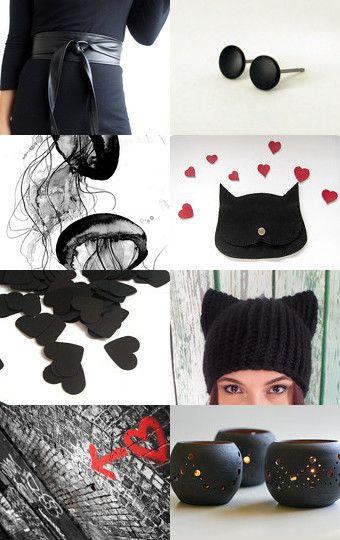 Total black....... by Angela Nencioni on Etsy--Pinned with TreasuryPin.com
