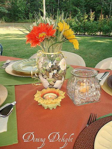 Summer Centerpiece by dining delight