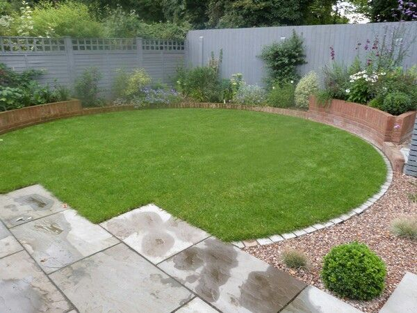 Square lawn google search lawn shapes pinterest for Circular raised garden bed ideas
