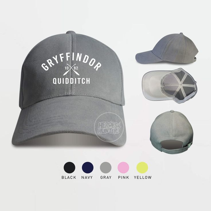 Gryffindor Quidditch 1092 Baseball Caps Harry Potter Hat Gryffindor Caps by HeroesHunter on Etsy