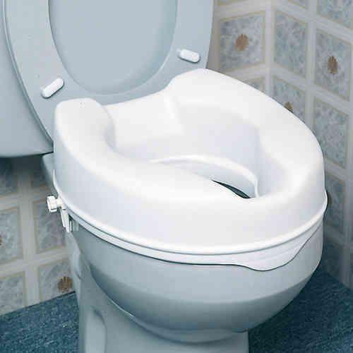 Asiento elevador WC económico CON TAPA-10 cms.