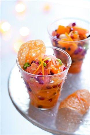 Salade d'agrumes et ses tuiles au miel - Larousse Cuisine