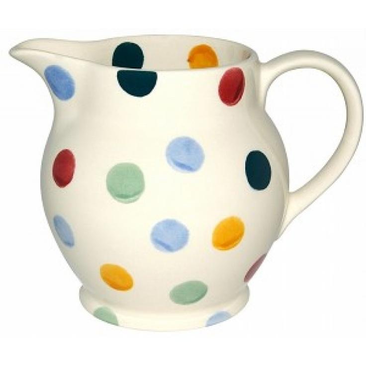 #pand56 #pottery #emmabridgewater polka dot milkcan € 29,95