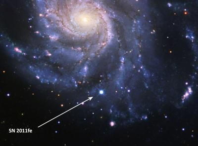 Image of the Day: Brilliant Supernova 12 hours After it Exploded in the Pinwheel Galaxy