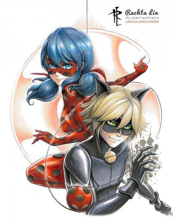 #Miraculous les aventures de #Ladybug et Chat Noir #Dessin #Fanart par rachta Lin @Thomas_Astruc