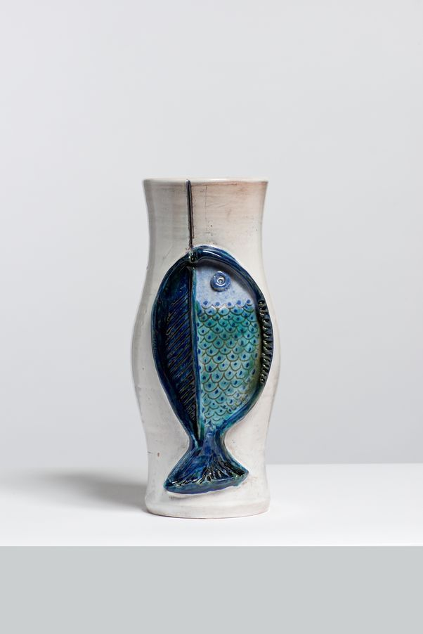 Robert and Jean Cloutier; Glazed Cramic Vase, 1950s.