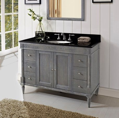 in by fairmont designs in tucson az rustic chic vanity silvered oak - Bathroom Cabinets Tucson Az