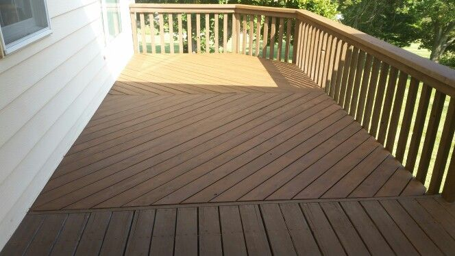 Re Staining A Deck After Color Is Sw 3518 Hawthorne In