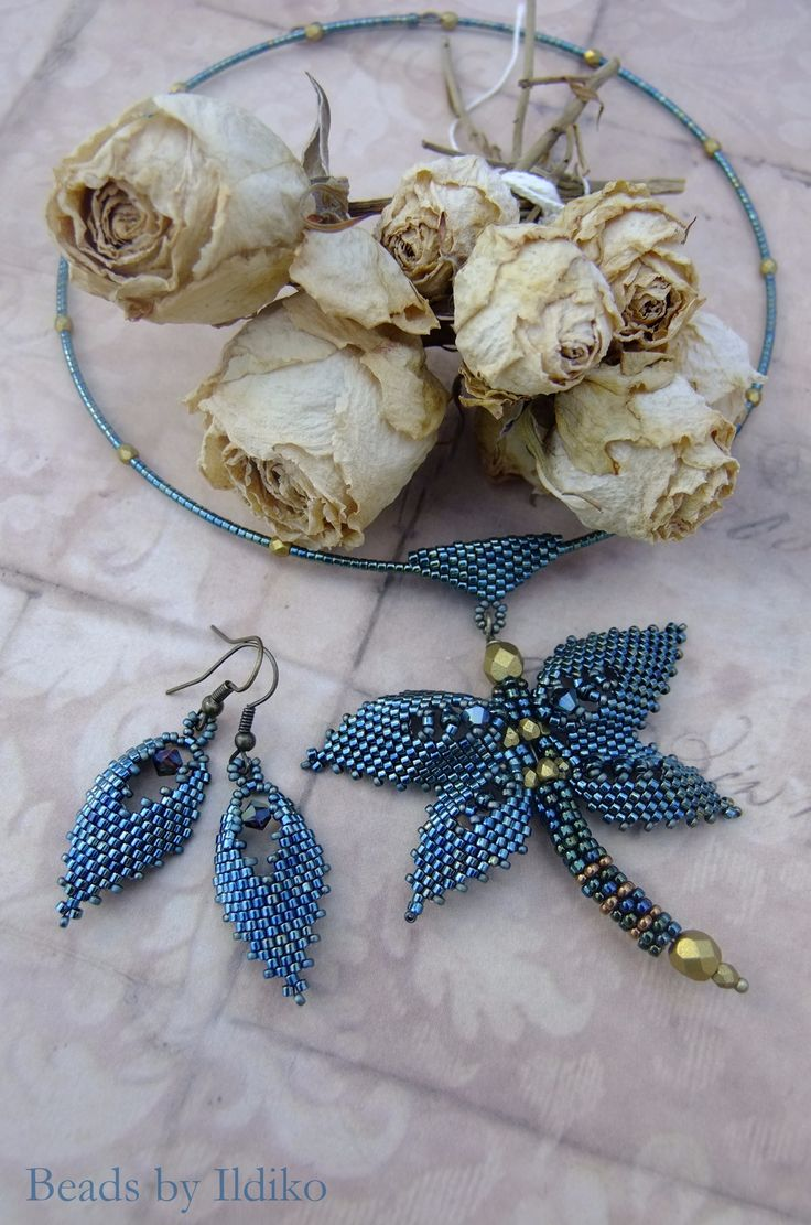My dragonfly and matching earrings