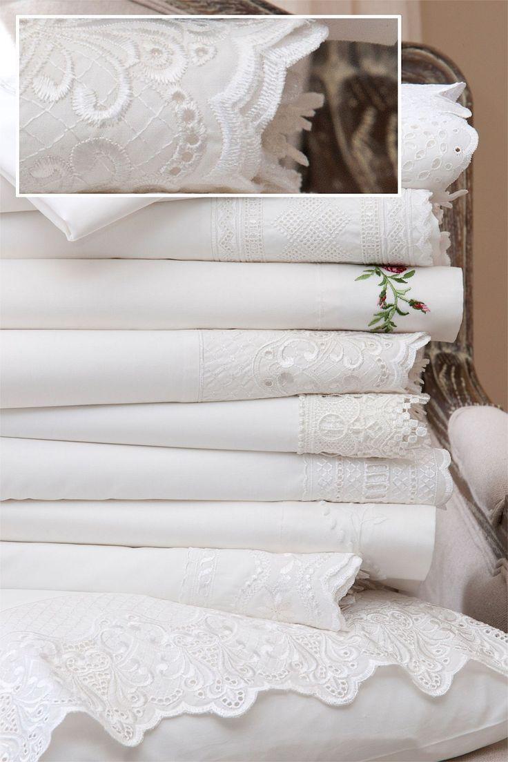 Buy Bedding Online at EziBuy | Bed linen includes sheet sets, duvet covers, blankets, quilts - Lace Cuff Sheet Set - EziBuy New Zealand