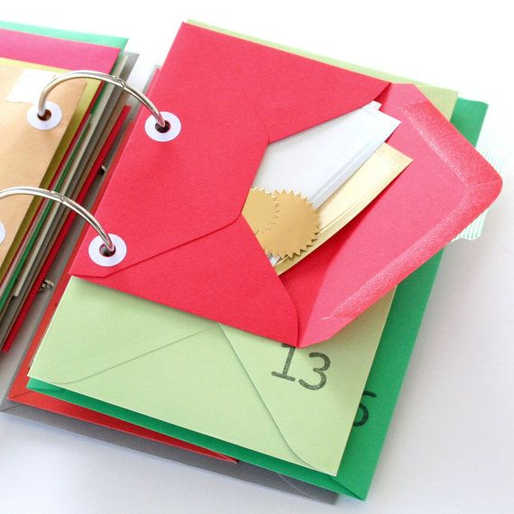 Advent Journal 25 Envelopes with by saturdayAMvintage