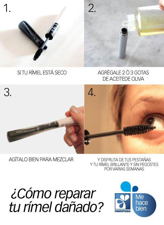¿Cómo reparar un rimmel dañado? Tips belleza maquillaje