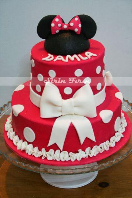 minnie mouse cake, minnie mouse pastası