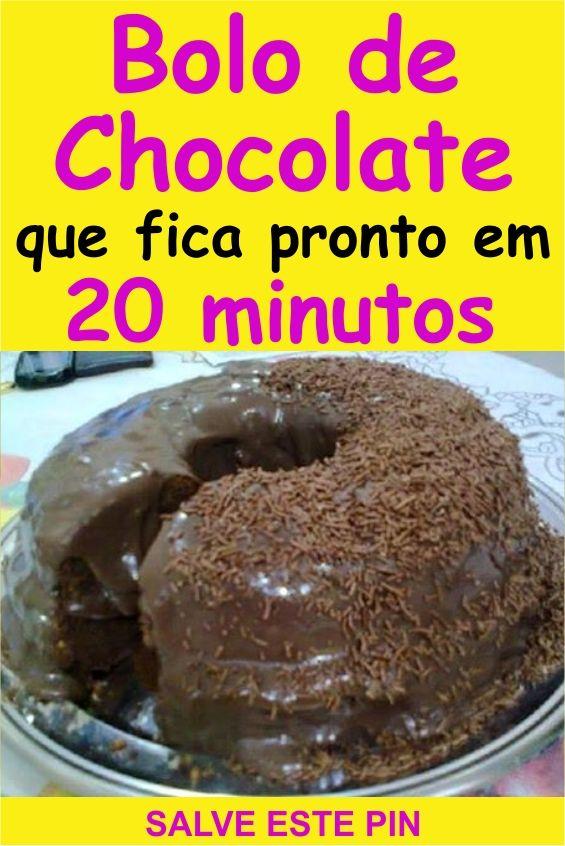 Bolo De Chocolate Em 20 Minutos Drinks Receitas Bolo De