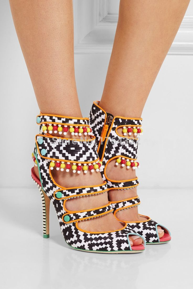 Lâminas de couro sandálias de cetim laranja e turquesa novo monocromático sapatos 4.5 polegadas salto de couro forrado de cetim impresso sandálias em Sandálias das senhoras de Sapatos no AliExpress.com | Alibaba Group