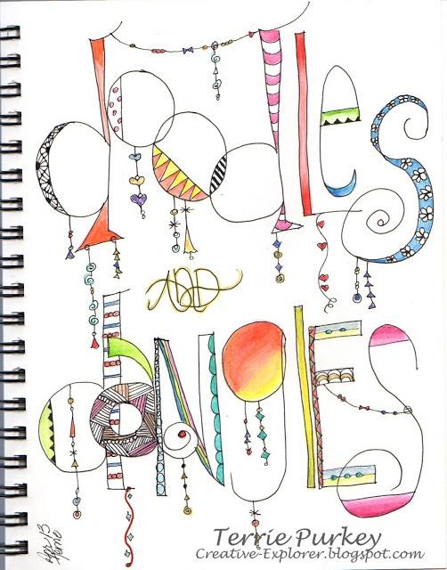 Creative Explorer:  doodled lettering