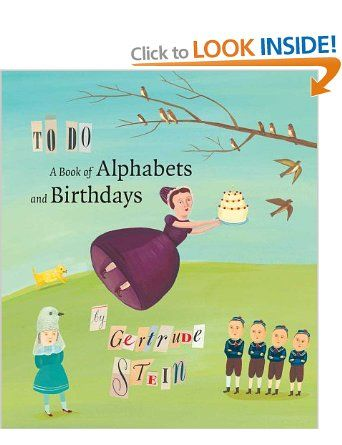 To Do: A Book of Alphabets and Birthdays Beinecke Rare Book Manuscript Beinecke Rare Book and Manuscript Library: Amazon.co.uk: Gertrude Ste...