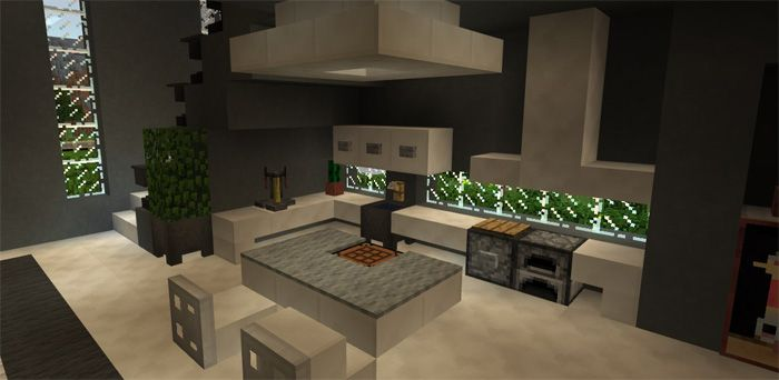 Modern Super Mansion Creation Map For Minecraft Pe Modern
