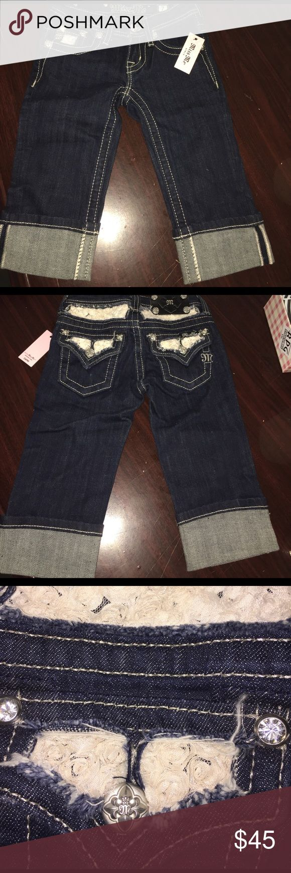 Miss Me Kids Capri. Brand New with tags Miss Me Capri Kids Size 7.  No Trade No Offers price Set and Firm. Miss Me Bottoms Jeans