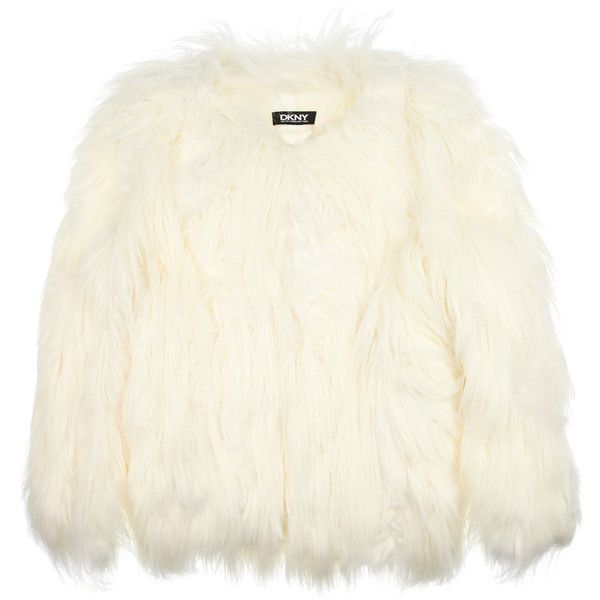 DKNY Faux fur jacket ❤ liked on Polyvore